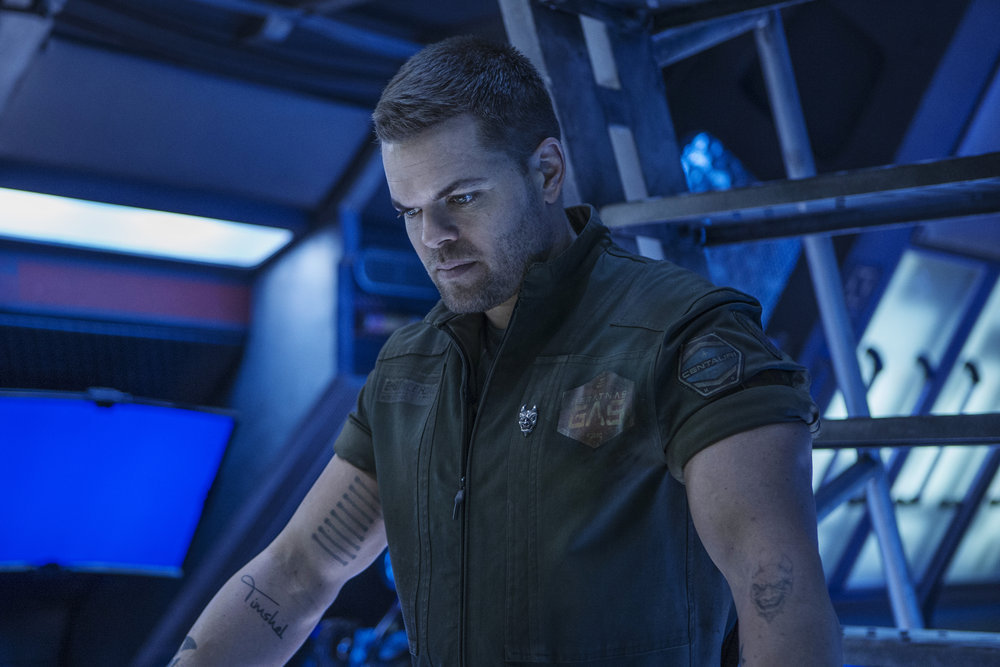 Amos Burton, played by Wes Chatham, from  The Expanse .