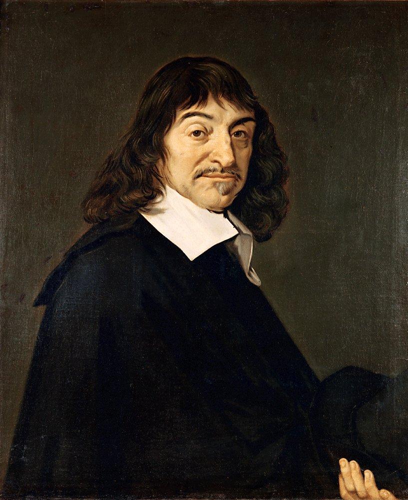 Portrait of René Descartes by Frans Hals.
