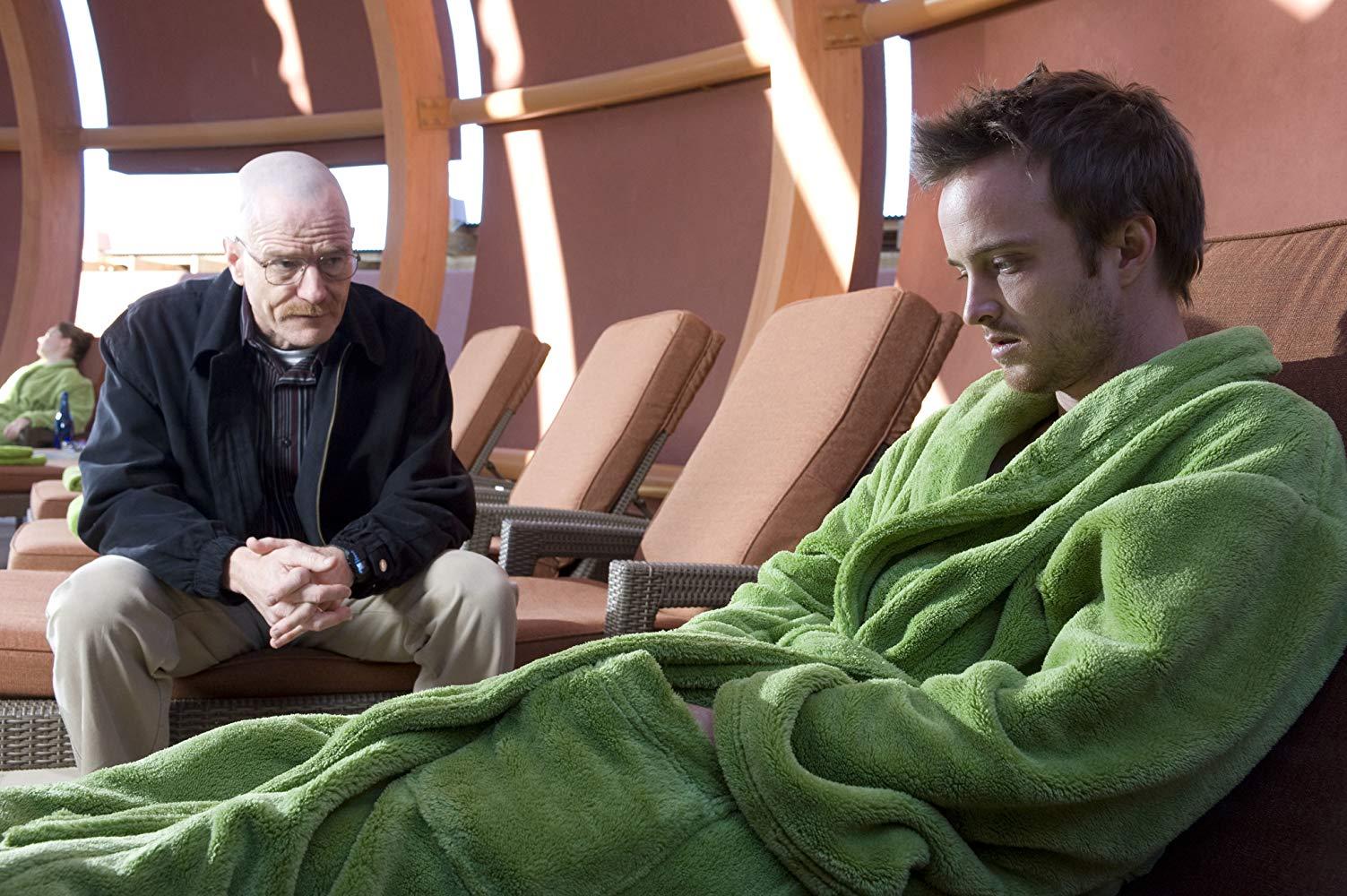Walter White (Bryan Cranston) and Jesse Pinkman (Aaron Paul) in  Breaking Bad.