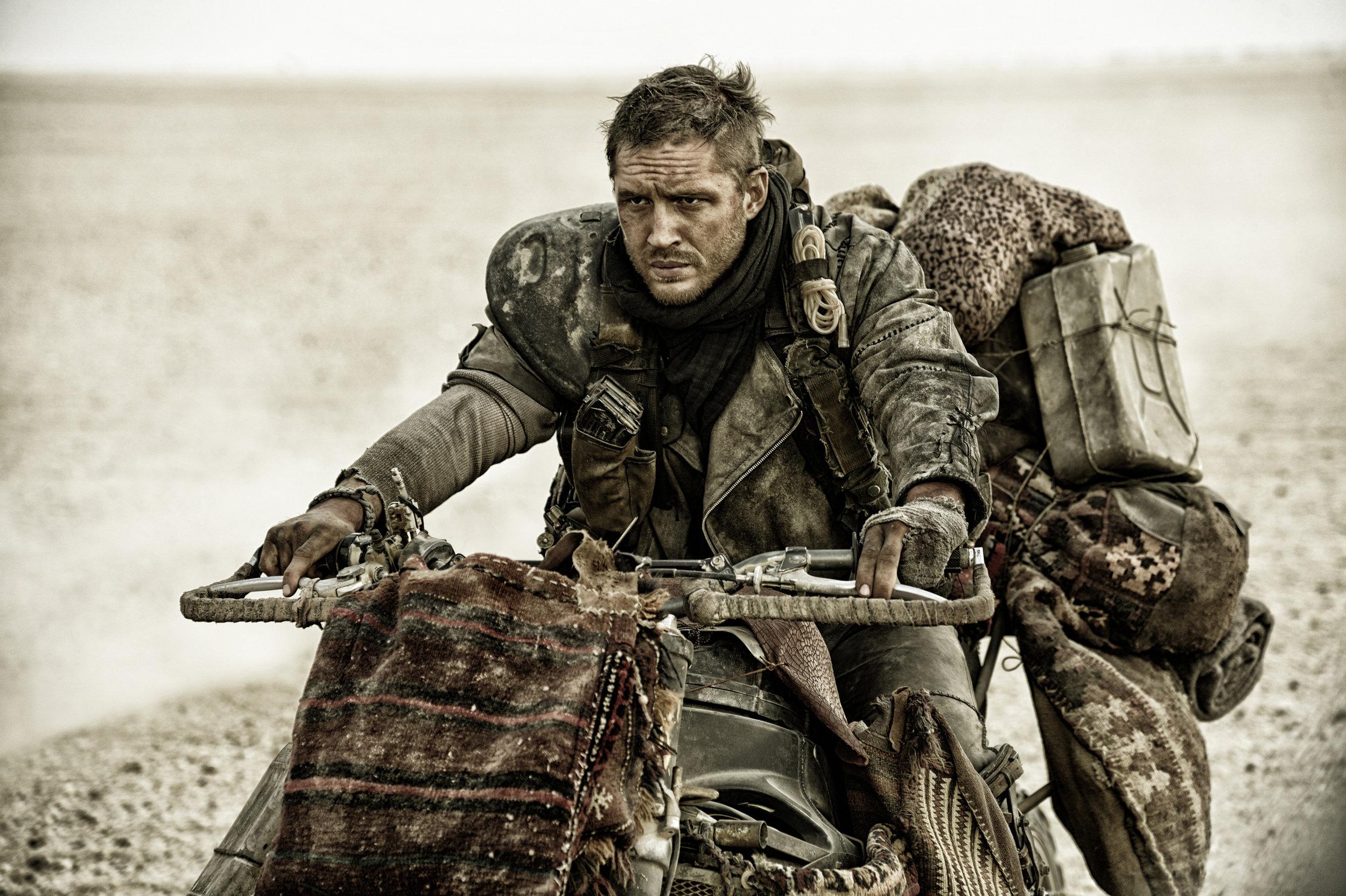 Tom Hardy as Max Rockatansky in  Mad Max: Fury Road  (2015).
