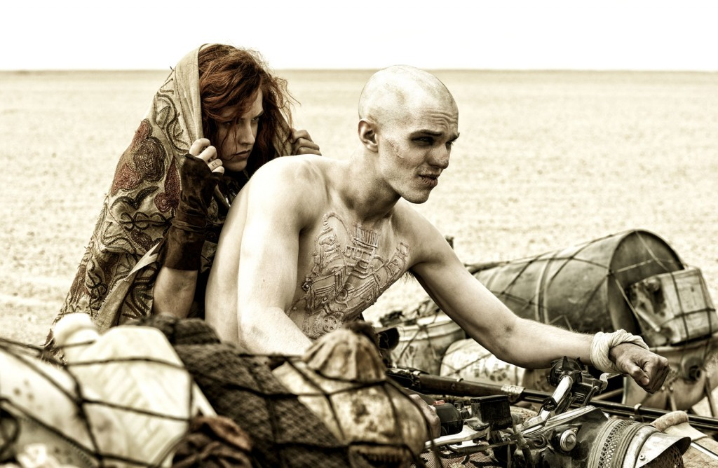 Nux (Nicholas Hoult) and Capable (Riley Keogh) in  Mad Max: Fury Road  (2015)
