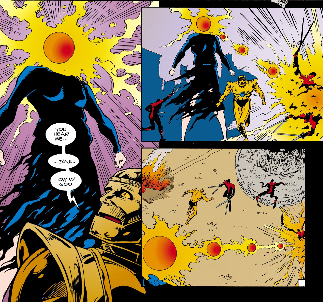 Doom Patrol is just like that — both characters are technically featured here. Owned by Vertigo, drawn by Richard case.