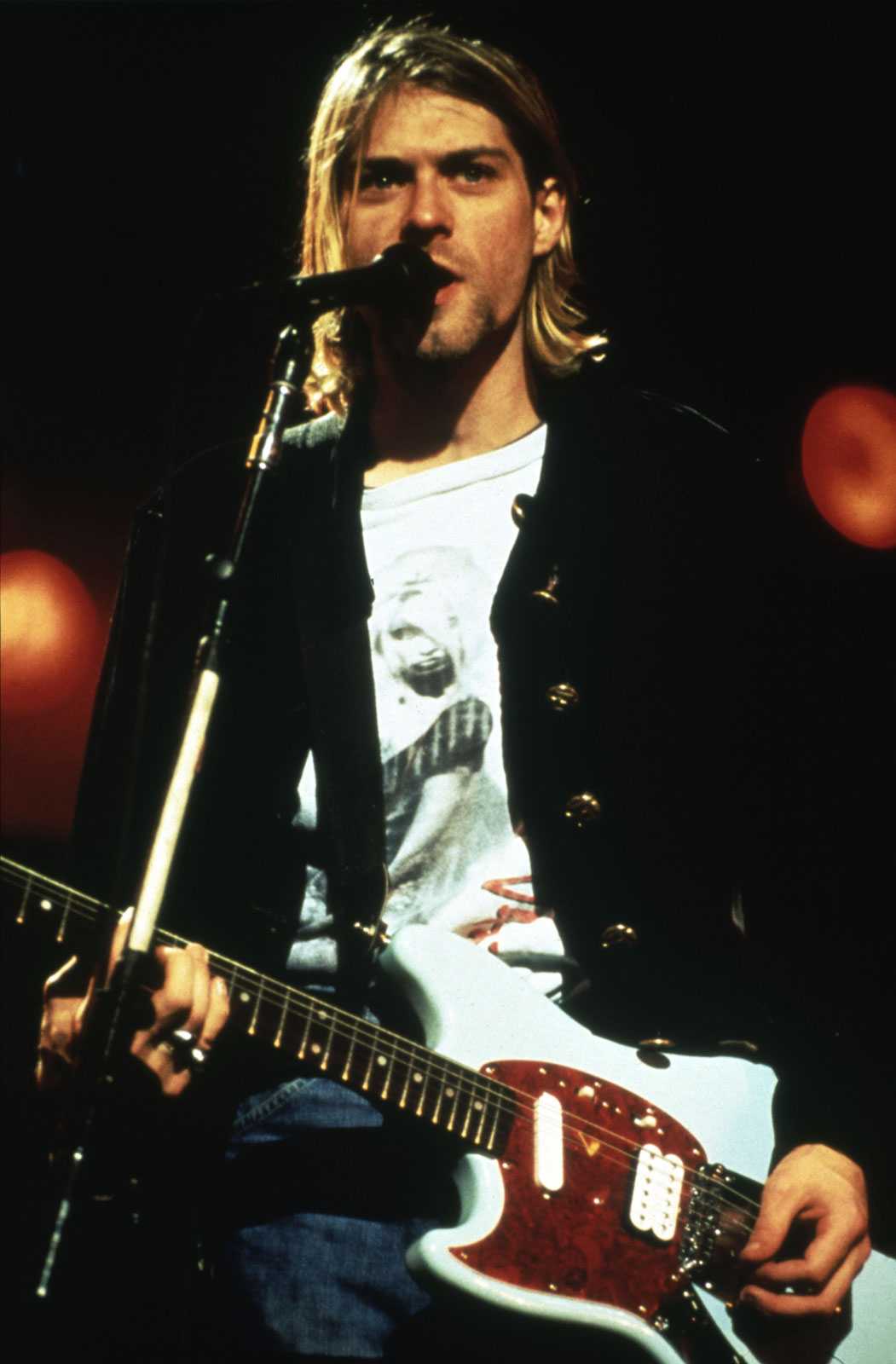 Kurt Cobain, performing with Nirvana in 1993. Cobain was the lead singer of Nirvana, who were basically everything worth listening to in Grunge music. Photo from  Encyclopedia Britannica , ultimately from Pictorial Press/Alamy.