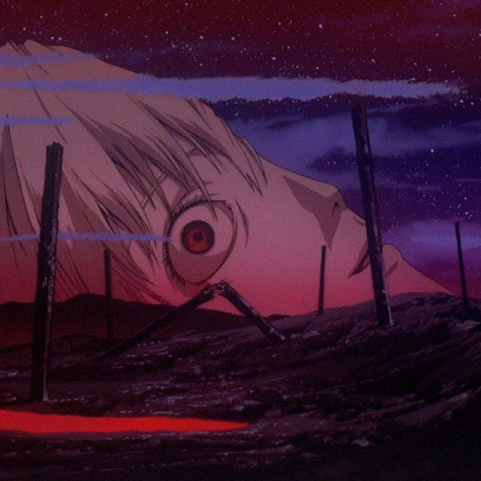 The background of the scene, from  The End of Evangelion  (1997), image taken from  Newsweek , of all places.