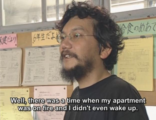 Hideaki Anno, supposedly speaking to elementary school-aged children. To be honest, meticulous, burning rage was an improvement on his mood.