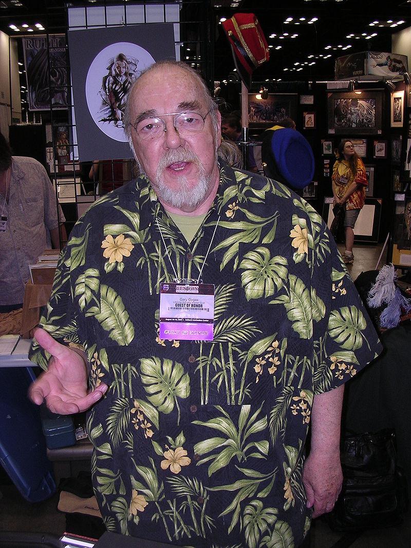 Gary Gygax at Gen Con in 2007, photo taken by Alan De Smet, through Wikipedia.