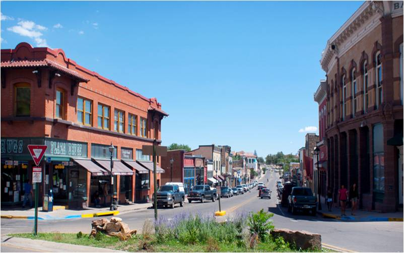 Bridge Street in Las Vegas, NM, the smallest town I ever lived in. (Photo from Las Vegas Citizens Committee for Historic Preservation)