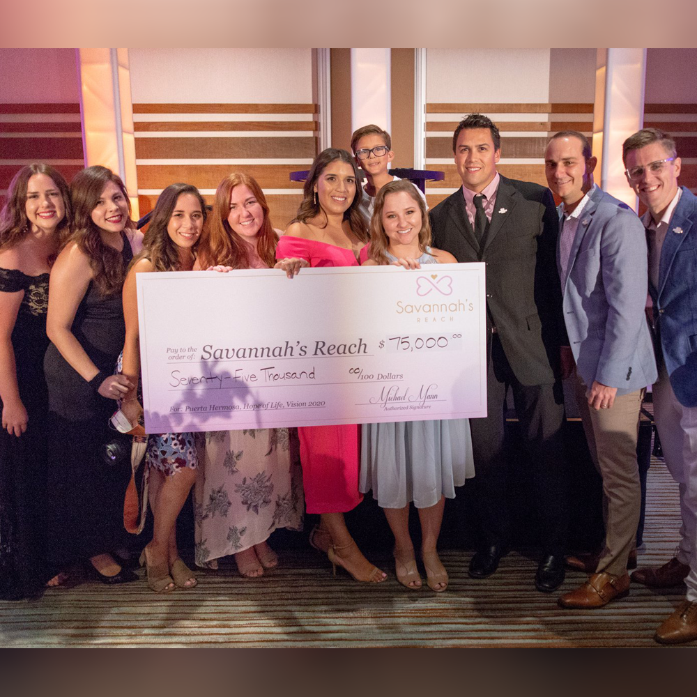 2018 - The 6th Annual Savannah's Reach Gala was an exciting year with lots to celebrate! Our Gala moved to the beautiful Irvine Spectrum Marriott. Together we raised $75,000! 100% of the funds raised was allocated to our three initiatives. Puerto Hermosa - $35,000 These funds contributed to a wide range of medical expenses to care for the children living at Puerta Hermosa Orphanage in Baja California.       Hope of Life - $24,000 This amount will funded 20 baby rescues who have suffered from malnutrition in Guatemala. In addition, Hope of Life equips these babies' families with prevention resources.                        Zero by 2020 - $16,000 These funds were used to support local Orange and LA County families who are have fostered and adopted and who are committed to finding a home for every orphan in Orange County!We want to thank our two Title Sponsors, Joseph Martelli Real Estate Investments , and RD Olsen Development, and our Local Orphan Care Sponsor Brand Enhance Parking & Hospitality.