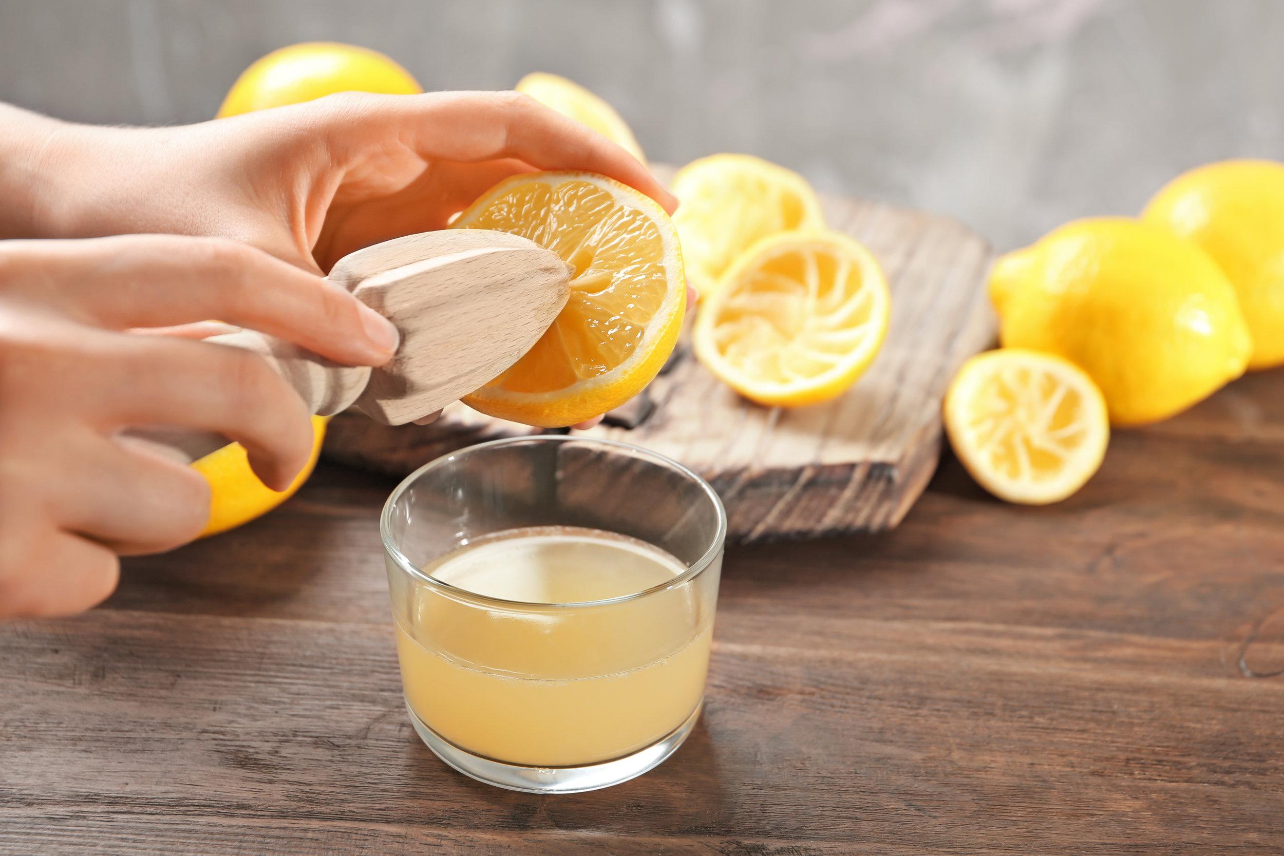 jus de citron pressé