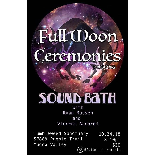 Join us for our next Full Moon Sound Bath!! We will provide blankets but please bring anything you need to be comfortable. If you have any questions feel free to message us.