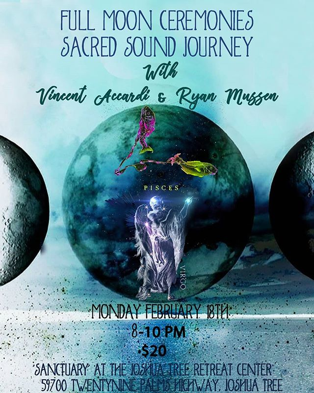 Join us for this month's full moon sacred sound journey! Feb 18th 8-10pm at the @jtretreatcenter in the Sanctuary Hall.  Please look to the retreat center website for directions to the hall. We will try to have signs directing traffic from the entrance to parking.  2 blankets will be provided but please bring anything you might need to be comfortable. If you need any sort of special accommodations please let us know ahead of time.