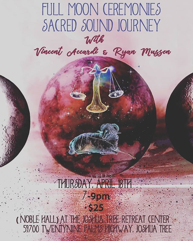 Hello everyone!! We are hosting another  Full Moon Ceremony April 18th 7-9pm @jtretreatcenter $25 at the door.  Please be aware this is being held in Noble Hall. If you need help with directions to the hall please feel free to message us or the retreat center.  Please arrive early to insure a spot. 2 blankets will be provided but please bring anything else you might need to be comfortable.  Thank you! Ryan and Vincent