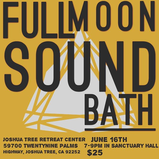Hello everyone! Join us for the next Full moon sound bath Sunday June 16th 7-9pm in Sanctuary Hall @jtretreatcenter $25  Looking forward to seeing all of you!