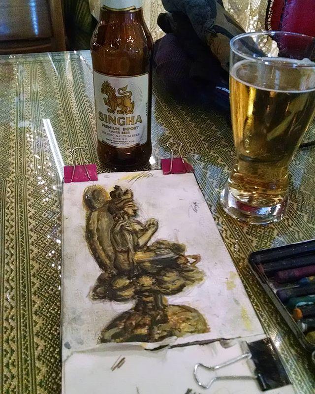#pem #sketchbook #gouache #watercolor #ink #buddha