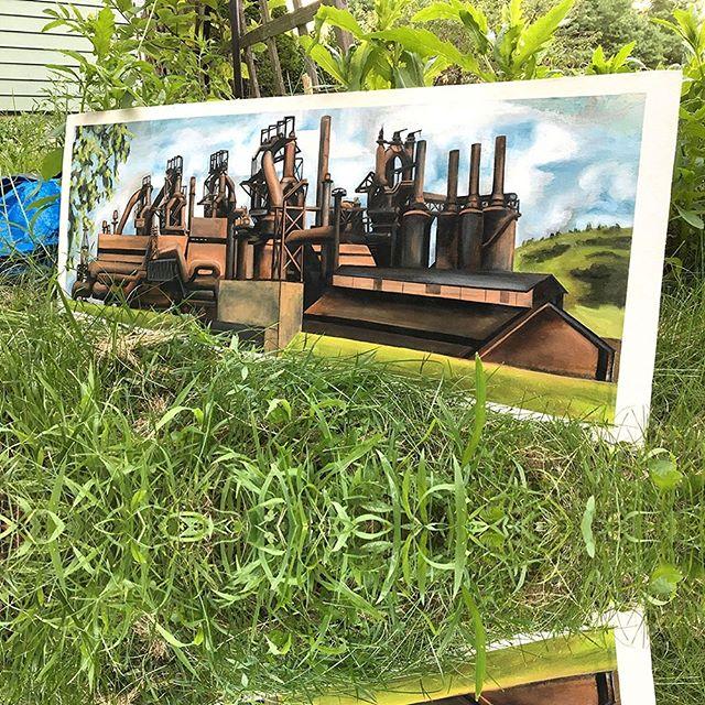#painting #landscape  #americanart #bethlehempa  #bethlehemsteel  #history