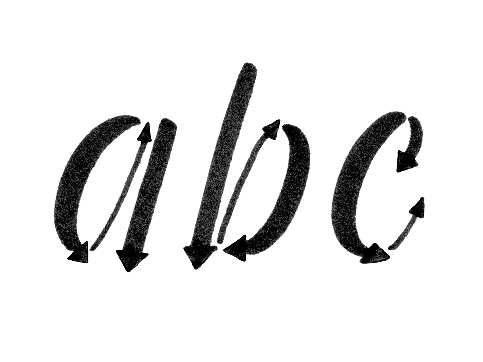 Basic strokes that we've covered are able to make up the majority of the minuscule letterforms