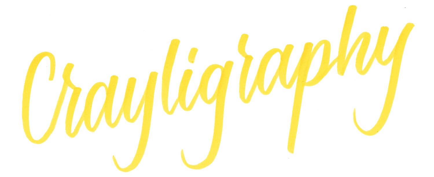 Crayligraphy written by Sarah Pearson