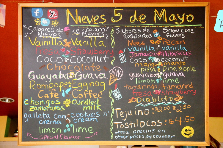 Nieves Cinco de Mayo - Tucked away in the Fruitvale Public Market is this unassuming ice cream shop run by Luis Abundis who has been lovingly churning out ice cream since 1991. Offering creative rotating ice cream flavors based on seasonal ingredients like rose petal, corn, and guava, as well as raspados (snow cones) like pecan and chile pepper, all of the ingredients are fresh, natural and hand-churned in small batches. The result is a high-quality product, for a low-key price, that has been making locals happy for years.3340 E 12th St #2, Fruitvale