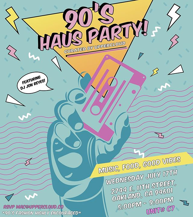 #Artthaus members @uppercloudmedia are bringing it back next Wednesday at their 90's Haus Party! RSVP to the email provided to enjoy a night of throwback fun with food and sounds provided by @stankpalmer!  Visit @uppercloudmedia for more details!