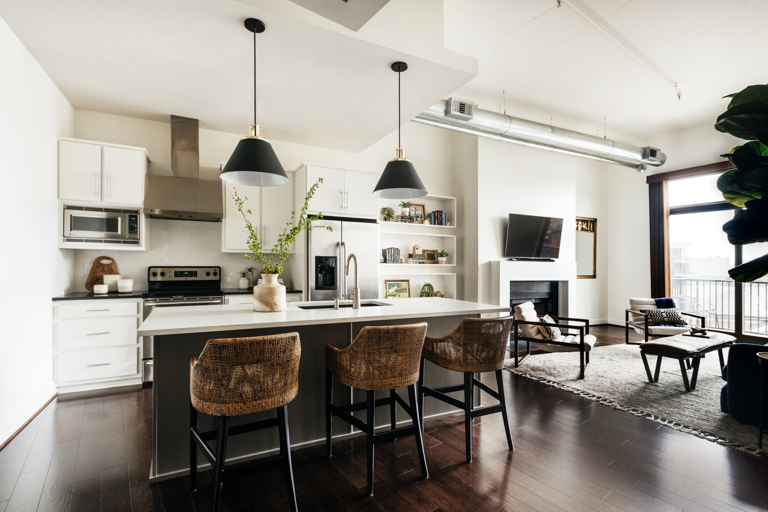 Megan Holt Interiors_Centennial Loft_Quinn Ballard Nashville Interior Photographer-Kitchen Living Room Composite.jpg
