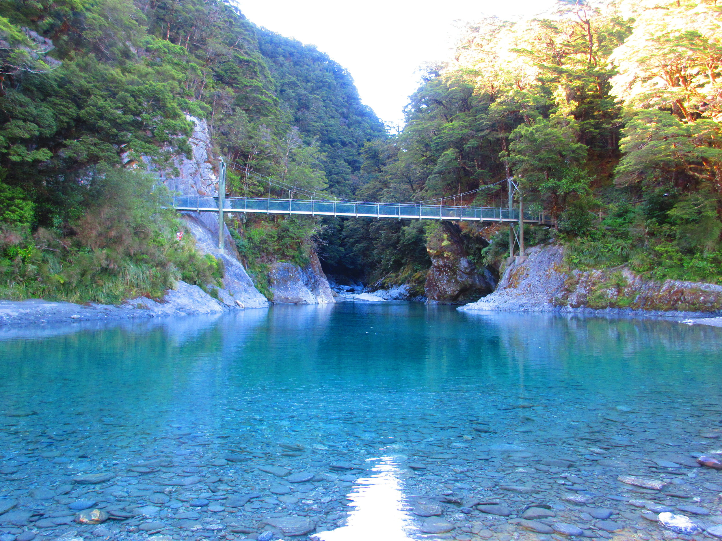 Blue Pools, Mount Aspiring National Park, New Zealand