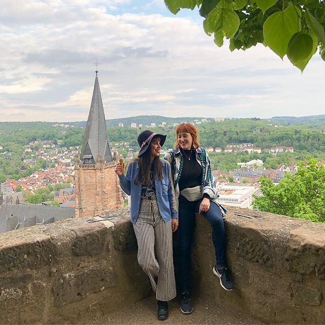 Day 81 🍦 We are here in Marburg and it's the cutest town ever 🏹 our last show of our first leg of the #karmictour2019 is TONIGHT at Q 8pm. Come one, come all 🏰 . . . #marburg #karmictour2019 #fm4 #indieband #firstofmay #newtrack #spreadthelove #newsingle  #womenequality #singers #futureisfemale #girlpower #tourlife #kroq #kcrw #spotifyplaylist #spotify #itunesmusic #austria🇦🇹 #lightworkers #musicfestival #ontheroad #musicmakers #eurotour2019 #losangelesband #applemusic #vintagestyle #healers