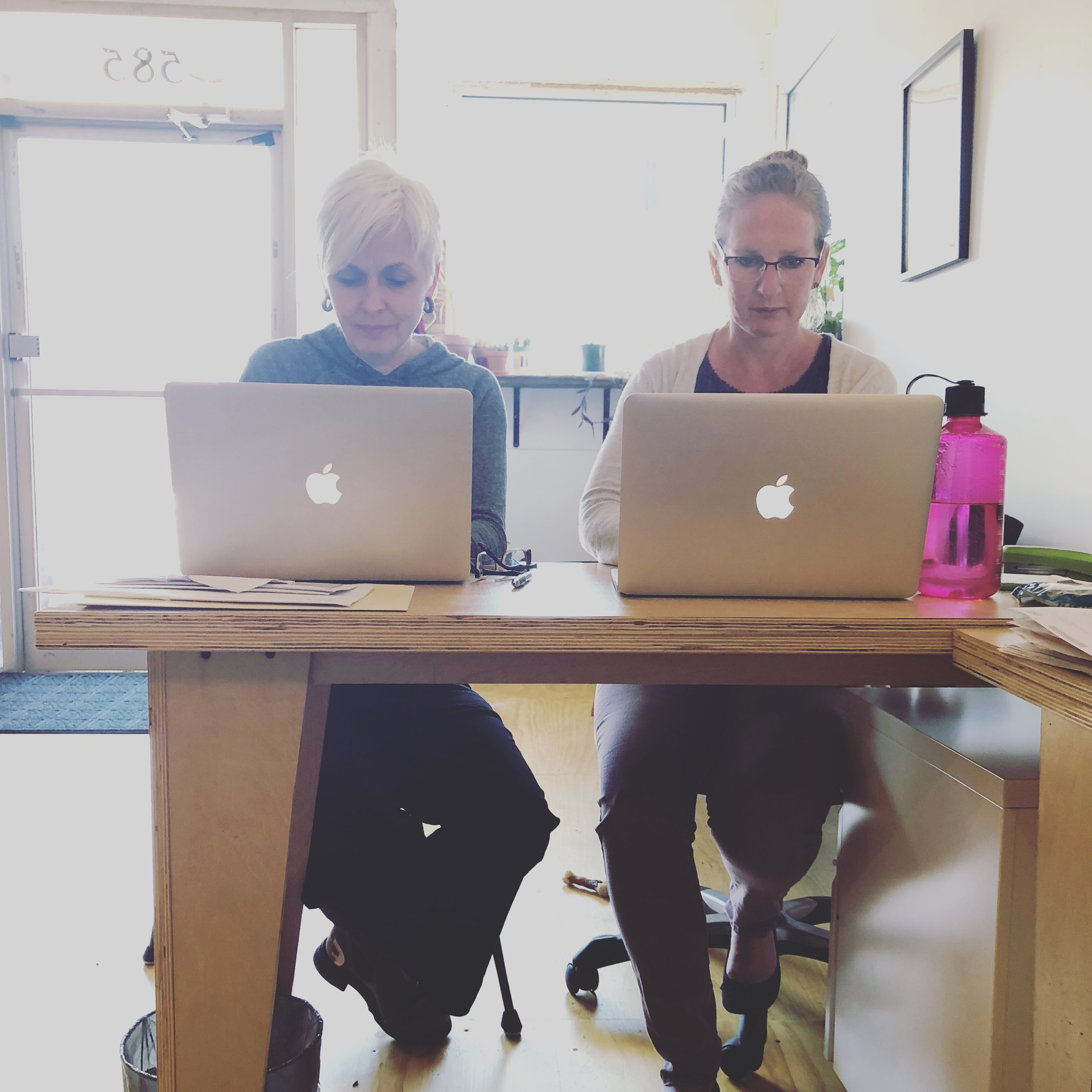 Cyd & Julie in New Office.JPG