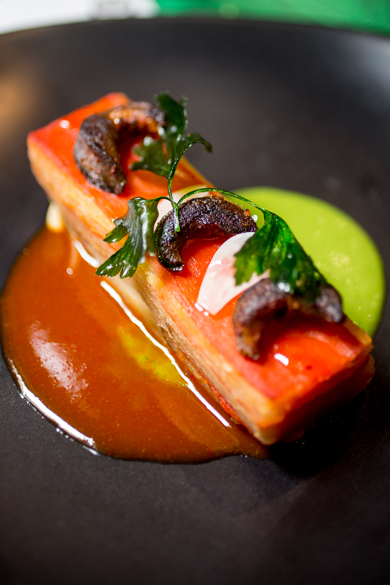 Escargot Adobado, Summer Vegetable Ratatouille Pave