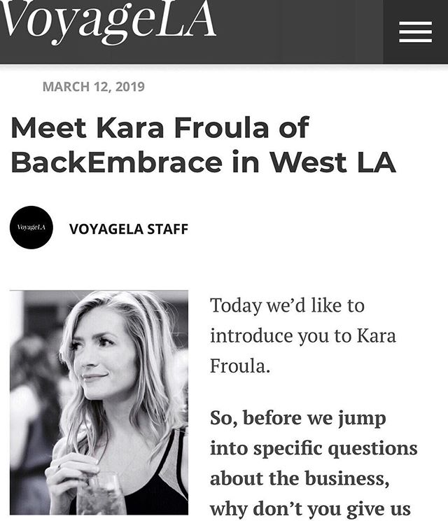 Thank you ❤️ @voyagelamag for sharing the @backembrace story 🙌🏻 Check it out here 👉🏻 http://voyagela.com/interview/meet-backembrace-west-la/  #founderfriday #thebackstory #lamade