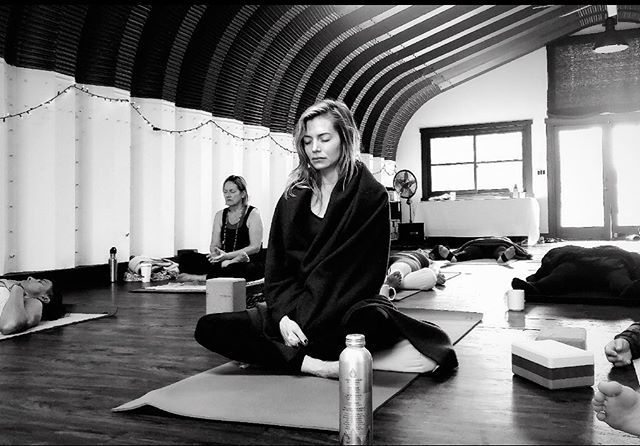 #throwback to this blissful week of yoga + meditation with @pattiquintero❤️Taking time to embrace those precious moments of stillness, peace and quiet is priceless. In the hustle and bustle of our daily routines, it's so easy to stay busy– always reacting to external factors in our environment. Over the past several years I've been dedicated to carving out at least 5-10 minutes of quiet time each day to get grounded and present in my body and in the moment. No matter how much I resist it, I inevitably feel better afterwards and have a new and better perspective. What's your self-care ritual?  #meditate #embracethestillness #gettingquiet