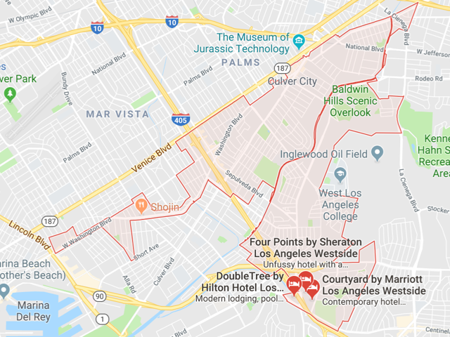 Culver City  Superficie: 13.31 km2 Démographie: 39,364 habitants  Prix moyen par Sq.Ft (1m2 = 10.76 Sq.Ft): -Maison Single Family: Q1 2018: $838 (Q1 2017: $728) -Condo: Q1 2018: $539 (Q1 2017: $494)