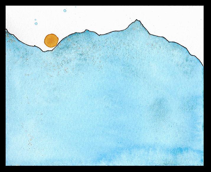 """Solstice Sun, 3.5 x 4"""", SOLD"""