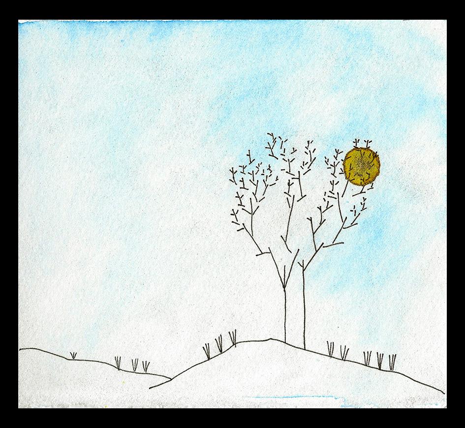 "Winter Sun, 5 x 6"", SOLD"