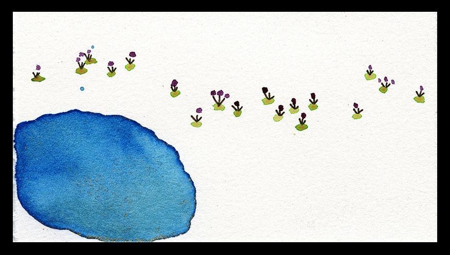 """Summer Pond, 3 x 5"""", SOLD"""