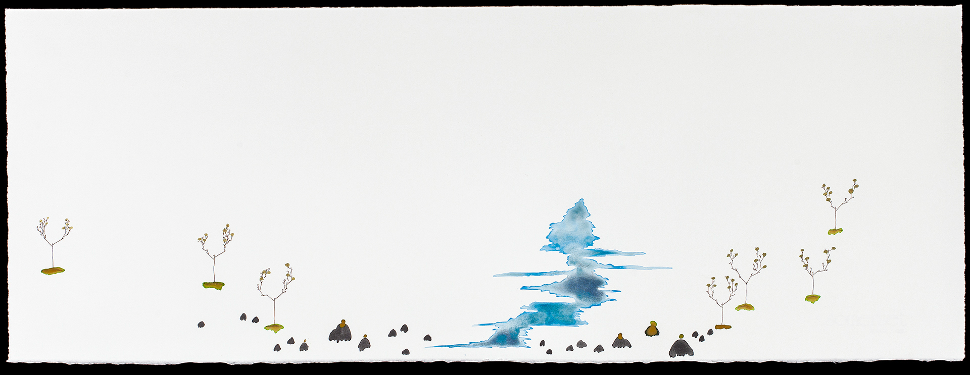 """Boreal Forest no. 2, 11 x 30"""""""