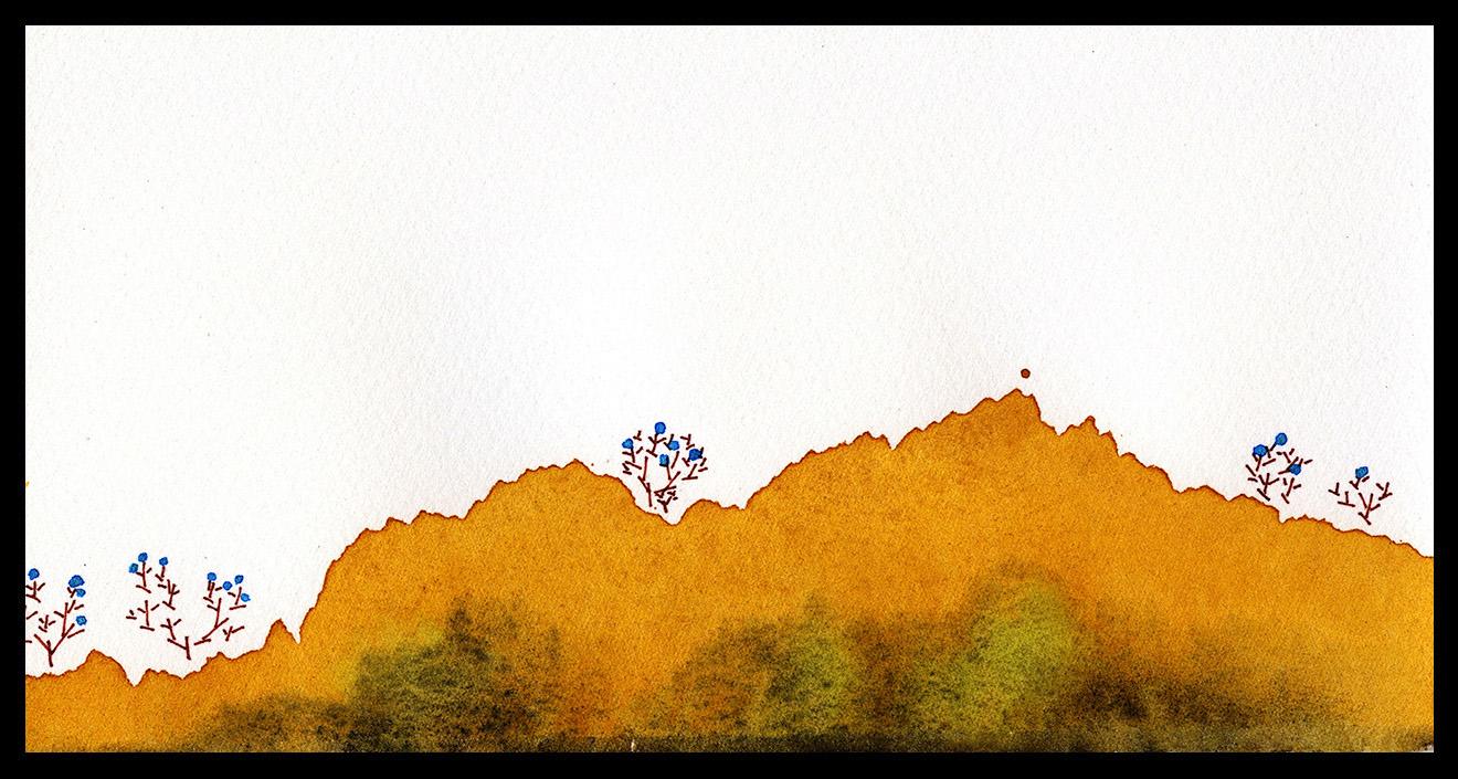 "Fall Ridgeline, 4 x 7"", SOLD"