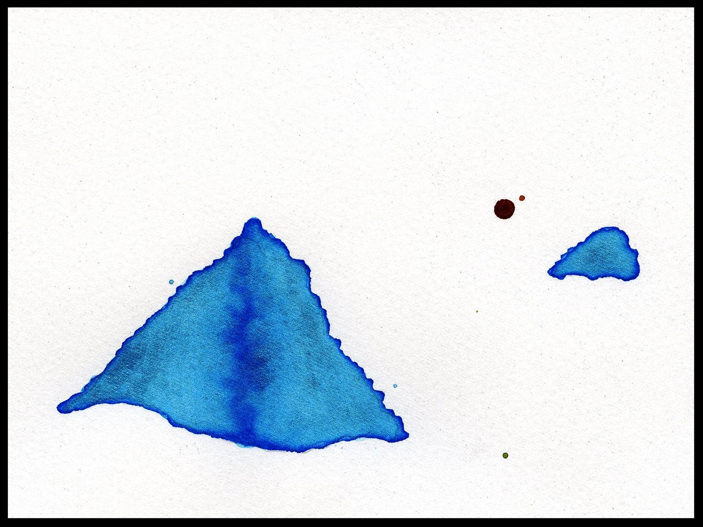 """Iceberg Melt, 3 x 5"""", $250"""