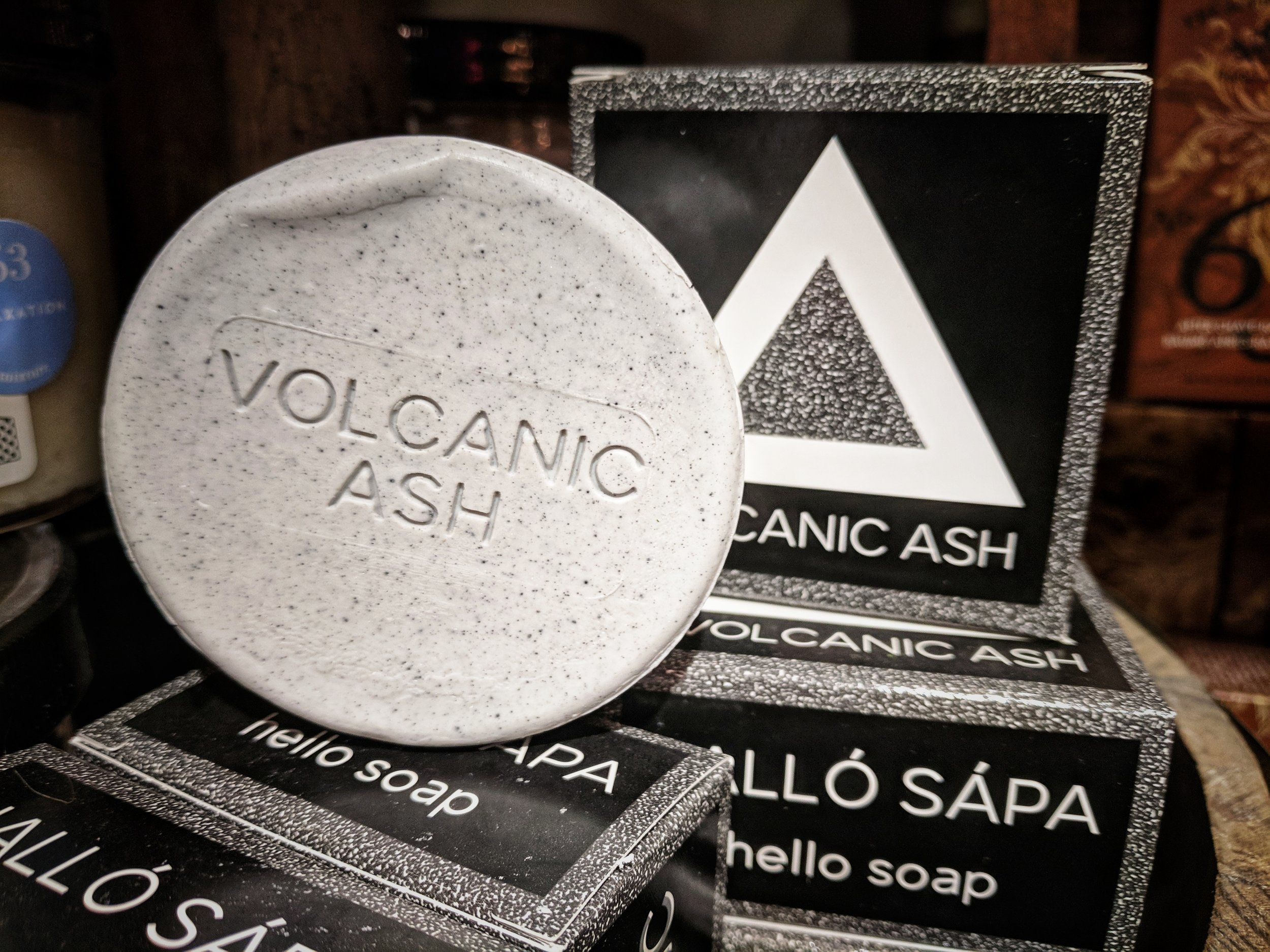 Icelandic Ash - pure, hand-harvested Volcanic Ash from Iceland's geothermal lava fields and combining it with our custom, sustainable, Rainforest Alliance Certified™ soap base made domestically in the USA. Icelandic Volcanic Ash, known as