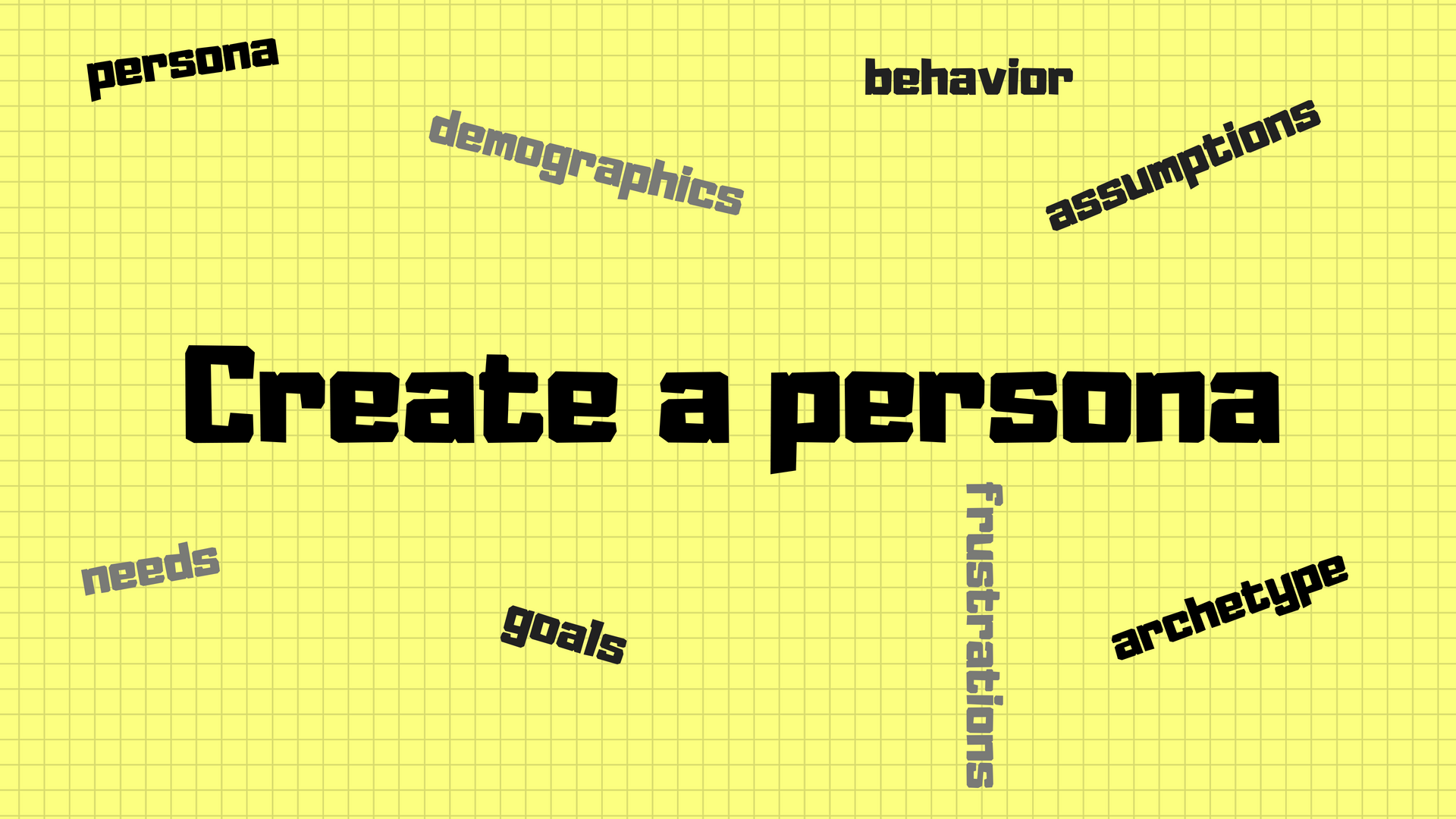 start with a persona
