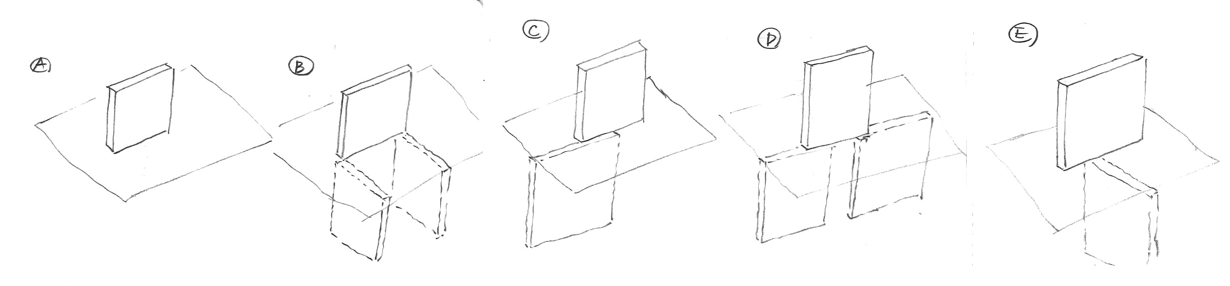 STUDY SKETCH OF STRUCTURE