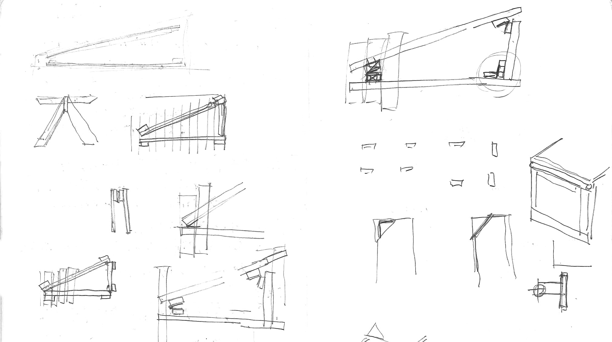 """SKETCHES OF """"XYLOPHONE"""" TABLE"""