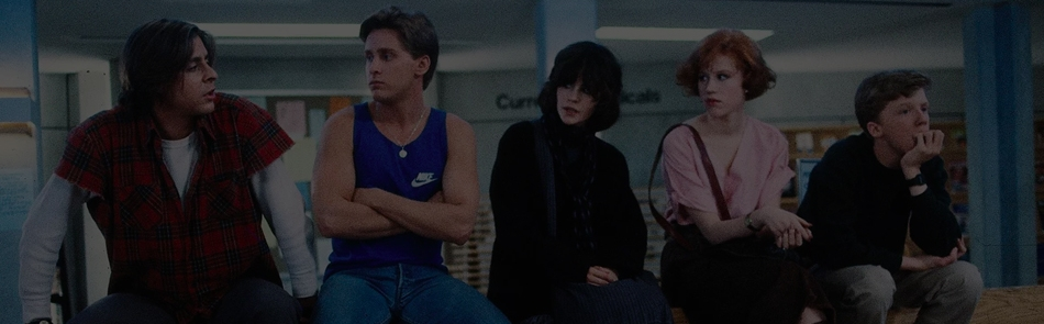 THE BREAKFAST CLUB - 1985 - Cert 15 - 1hr33mins