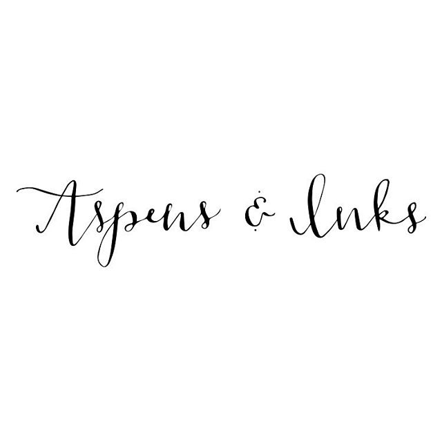 Check out the new logo! Digitized calligraphy! Stay tuned for some exciting new products for digital calligraphy coming soon!! #aspensandinks #etsy #etsyseller #calligraphy #coloradocalligrapher #weddinginspiration #weddingplanning #fineart #handlettering