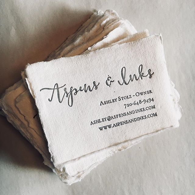 We're in business now! Every card handed out is special - because we made them ourselves! (Our website is still under construction! 🚧) #aspensandinks