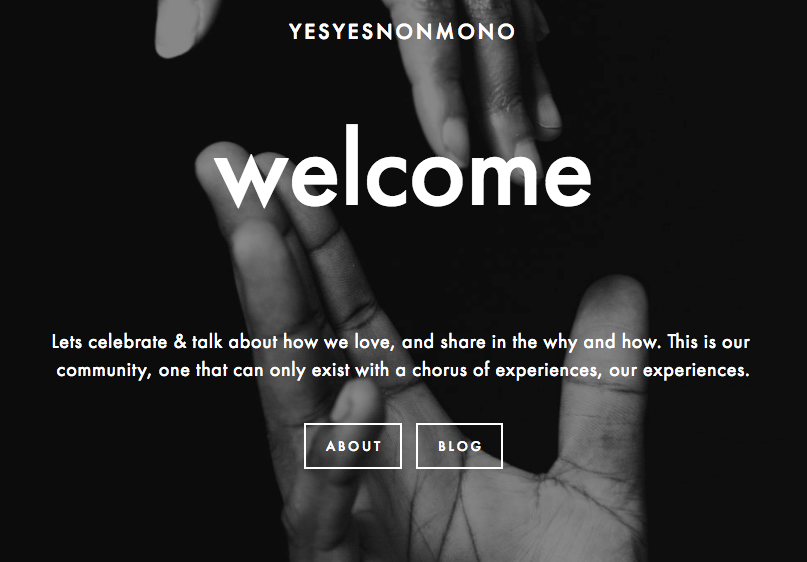 An on-going project that supports all the ways we have non-monogamous relationships
