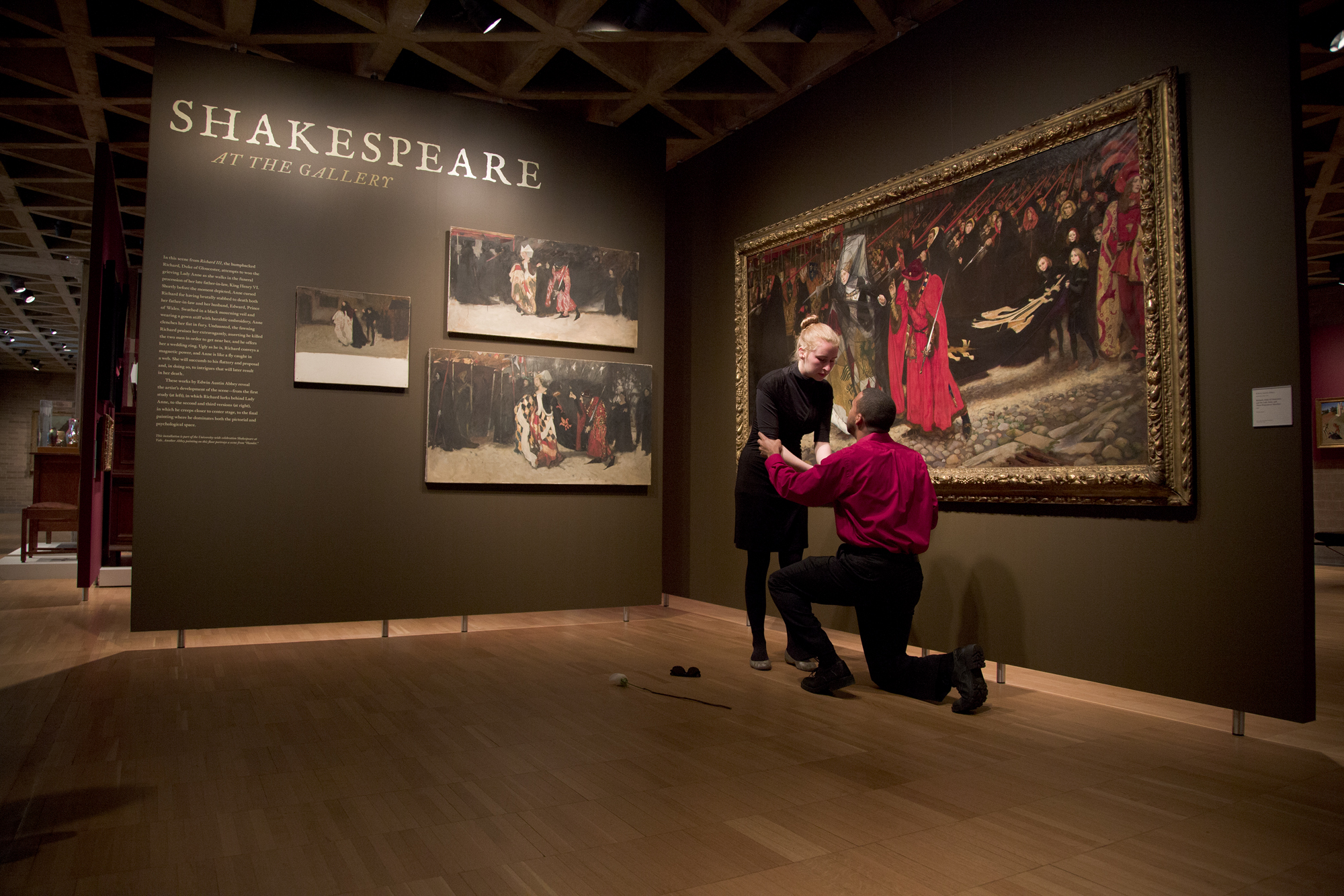 """""""Character Studies: Portraying Shakespeare's Richard III in Word and Image"""" at the Yale University Art Gallery. Photo by Jessica Smolinski."""