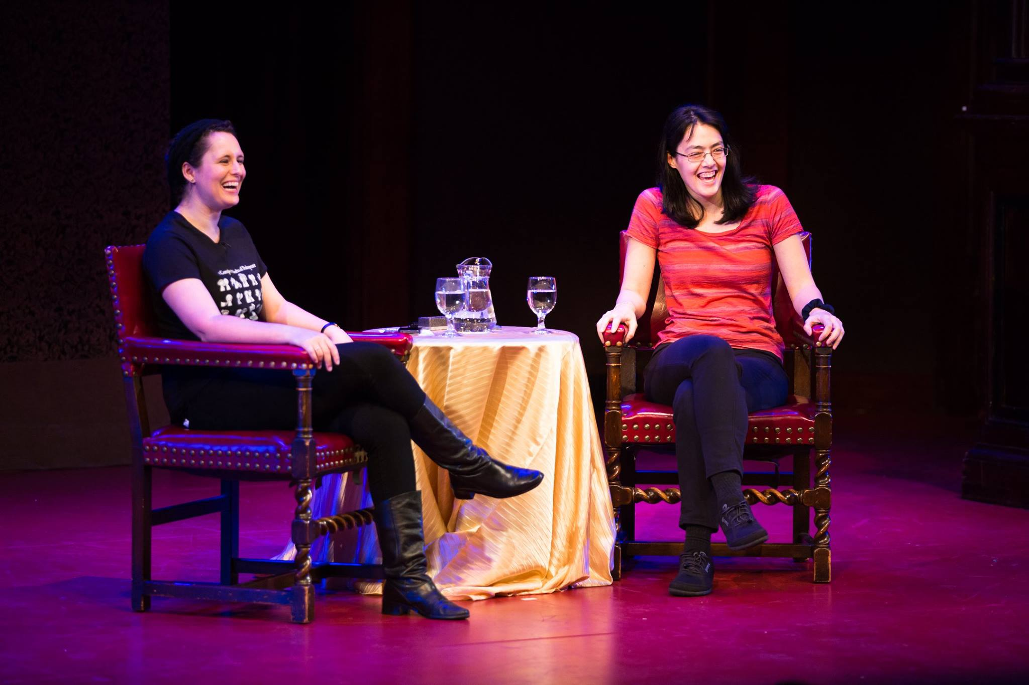 Interview with Mya Gosling at the Folger. Photo by Brittany Diliberto.