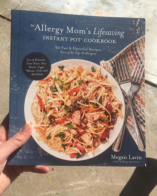 😍 COOKBOOK #top8free #allergyfriendly This came in the mail a couple days ago, I pre-ordered it on amazon maybe 2 months ago! Written by @allergy_awesomeness 🙌 I didn't even have an @instantpotofficial at the time! My brother has been using and raving about the instant pot for years, he's a really good cook and he discovered how to make full meals in his dorm room without going to the kitchen! 🤩 I mean impressive! He recently found a second instant pot used but still with all parts in packaging, so never been used. I bought it off them! #reuse #secondhand 🤩 Back to the cookbook, it is free of the top 8 most common allergens and every recipe is intended for the instant pot! Talk about getting re-inspired! I'll still have to modify for our random foods that we avoid but it is such a good starting place!! . . . .  #dairyfree #glutenfree #eggfree #soyfree #grainfree #nutfree #celiac #foodallergy #ulcerativecolitis #eoe #anaphylaxis #nutfree  #organic #wholefoods #realfood #eggfree #fishfree #recipeinspiration #recipes #cleaneating #allergyawesomeness #cookbook #instantpot #instantpotrecipes #healthyfood