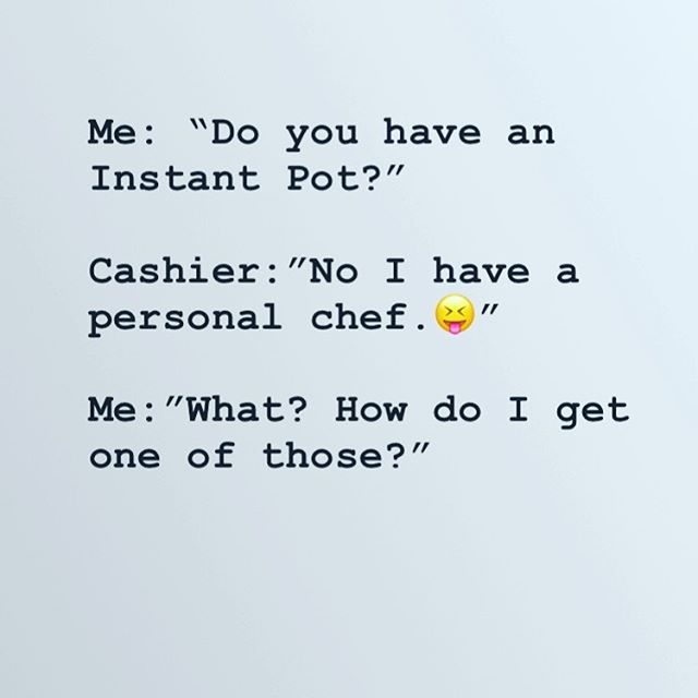 A conversation I had yesterday, totally cracked me up! She went on to tell me her spouse is a professional chef, and I said THAT IS AWESOME!! I am the personal chef at my house! 🤣🤣😢 🤣 I'm really late to the @instantpotofficial game, we are a pretty minimal kitchen on purpose. And in order to get this new gadget, we agreed to get rid of our rice cooker. I might eventually be gone with the slow cooker too, but for now it stays. 🤩 Do you have an @instantpotofficial and what is your fave recipe or way to use it??👇
