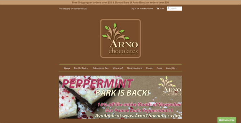Arno Chocolates - E-Commerce, Monthly Subscriptions & Marketing Automation